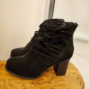Torrid Black Suede Booties